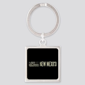 Black Flag: New Mexico Square Keychain