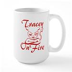 Tracey On Fire Large Mug