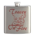 Tracey On Fire Flask