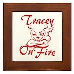 Tracey On Fire Framed Tile