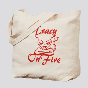 Tracy On Fire Tote Bag