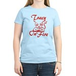 Tracy On Fire Women's Light T-Shirt