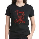 Tracy On Fire Women's Dark T-Shirt