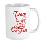 Tracy On Fire Large Mug
