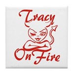 Tracy On Fire Tile Coaster