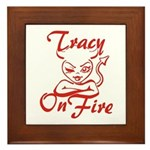 Tracy On Fire Framed Tile