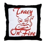 Tracy On Fire Throw Pillow