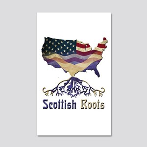 American Scottish Roots 20x12 Wall Decal
