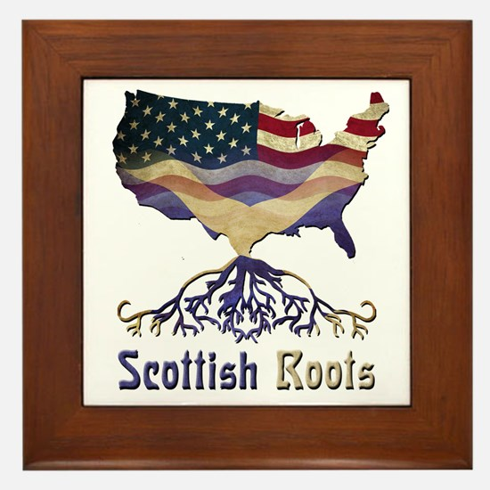 American Scottish Roots Framed Tile