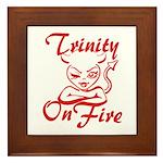 Trinity On Fire Framed Tile
