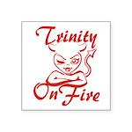 Trinity On Fire Square Sticker 3