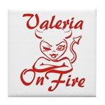 Valeria On Fire Tile Coaster