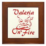 Valeria On Fire Framed Tile