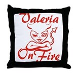 Valeria On Fire Throw Pillow