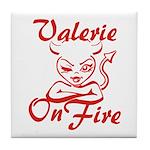 Valerie On Fire Tile Coaster