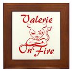 Valerie On Fire Framed Tile