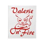 Valerie On Fire Throw Blanket