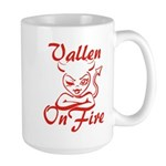 Vallen On Fire Large Mug
