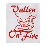 Vallen On Fire Throw Blanket