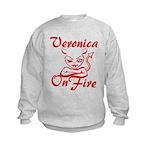 Veronica On Fire Kids Sweatshirt