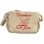 Veronica On Fire Messenger Bag