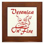 Veronica On Fire Framed Tile