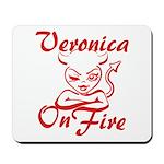 Veronica On Fire Mousepad