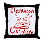 Veronica On Fire Throw Pillow