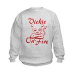 Vickie On Fire Kids Sweatshirt