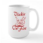 Vickie On Fire Large Mug