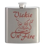 Vickie On Fire Flask