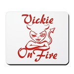 Vickie On Fire Mousepad