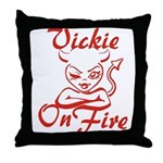 Vickie On Fire Throw Pillow