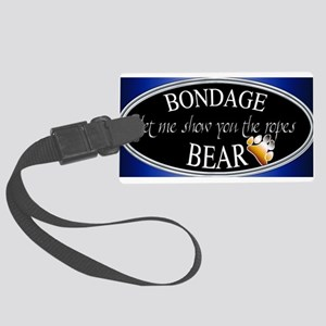 Bondage Bear Large Luggage Tag