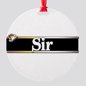 Sir Round Ornament