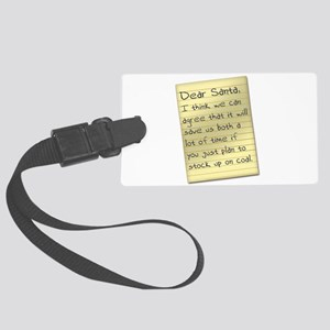 Stock Up On Coal Large Luggage Tag