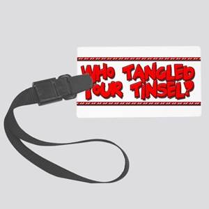 Tangled Tinsel Large Luggage Tag