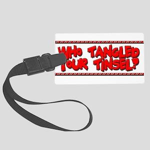 Tangled Tinsel Large Luggage Tag