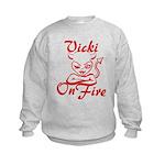Vicki On Fire Kids Sweatshirt