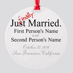 Finally Married Round Ornament