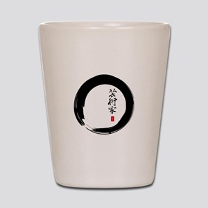 """Enso Open Circle with """"Artist"""" Calligraphy Shot Gl"""