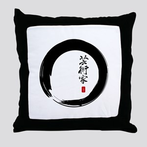 "Enso Open Circle with ""Artist"" Calligraphy Throw P"