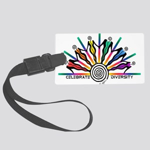Celebrate Diversity Large Luggage Tag