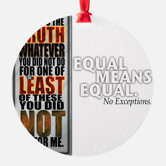Equal Means Equal Ornament