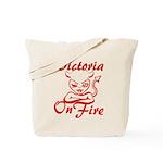 Victoria On Fire Tote Bag