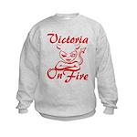 Victoria On Fire Kids Sweatshirt