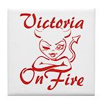 Victoria On Fire Tile Coaster