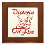Victoria On Fire Framed Tile