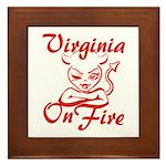 Virginia On Fire Framed Tile