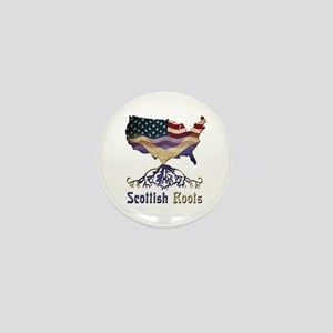 American Scottish Roots Mini Button